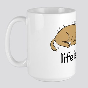 life is qi dog Large Mug