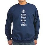 Keep Calm Pray Sweatshirt (dark)