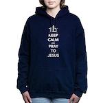 Keep Calm Pray Women's Hooded Sweatshirt