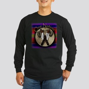 One Nation, Indian Long Sleeve Dark T-Shirt