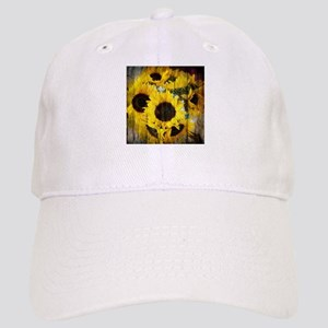western country yellow sunflower Cap
