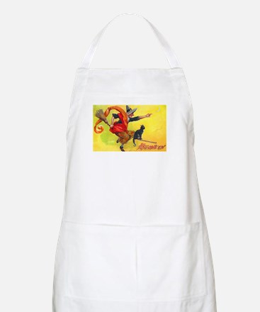 Halloween Witch on Broom BBQ Apron