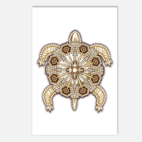 White Native Beadwork Tur Postcards (Package of 8)
