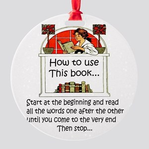 How to use this book Round Ornament