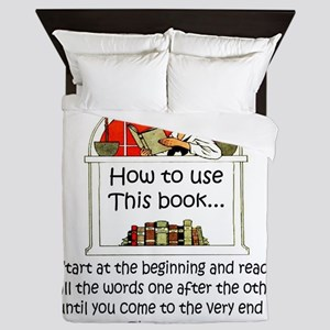 How to use this book Queen Duvet