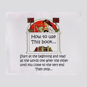 How to use this book Throw Blanket