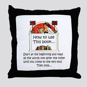 How to use this book Throw Pillow