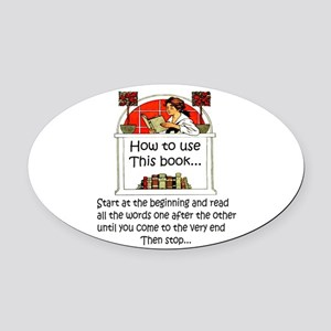 How to use this book Oval Car Magnet