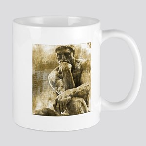 Impressionism sculpture The Thinker Mugs