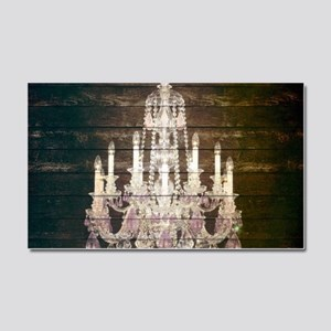 rustic barn wood chandelier Car Magnet 20 x 12