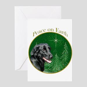 Flat-Coat Peace Greeting Card
