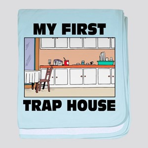 My First Trap house baby blanket