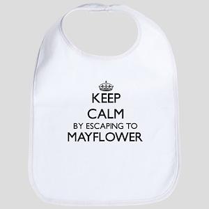 Keep calm by escaping to Mayflower Massachuset Bib