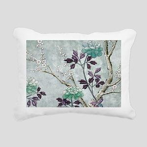 Asian Flowers Rectangular Canvas Pillow