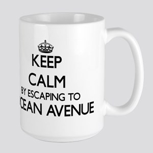 Keep calm by escaping to Ocean Avenue Massach Mugs