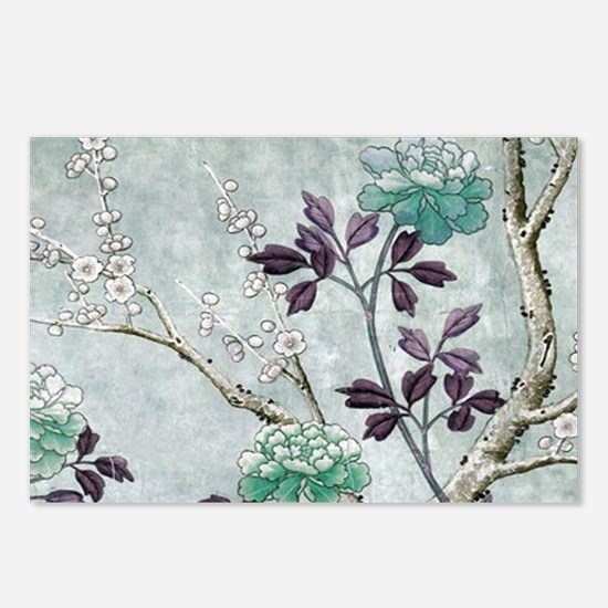 Asian Flowers Postcards (Package of 8)
