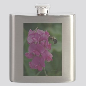 Sweet Pea with Bee Flask