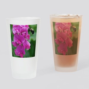 Sweet Pea with Bee Drinking Glass
