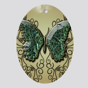 Awesome butterfly made of diamond Ornament (Oval)