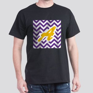 Purple Chevron Dark Gold A T-Shirt