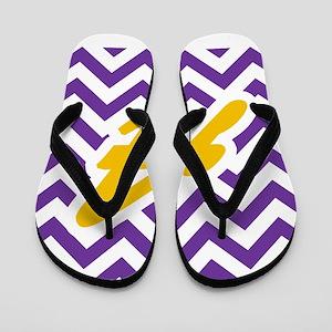 3ef9d4b11 Purple Chevron Dark Gold A Flip Flops