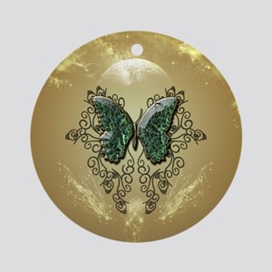 Awesome butterfly made of diamond Ornament (Round)
