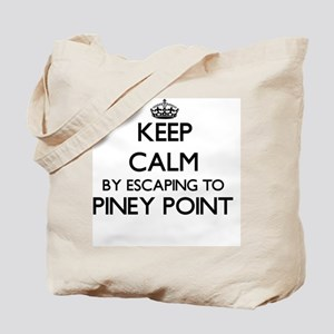 Keep calm by escaping to Piney Point Mass Tote Bag