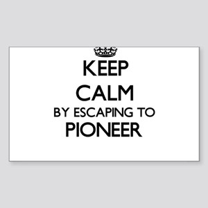 Keep calm by escaping to Pioneer Massachus Sticker