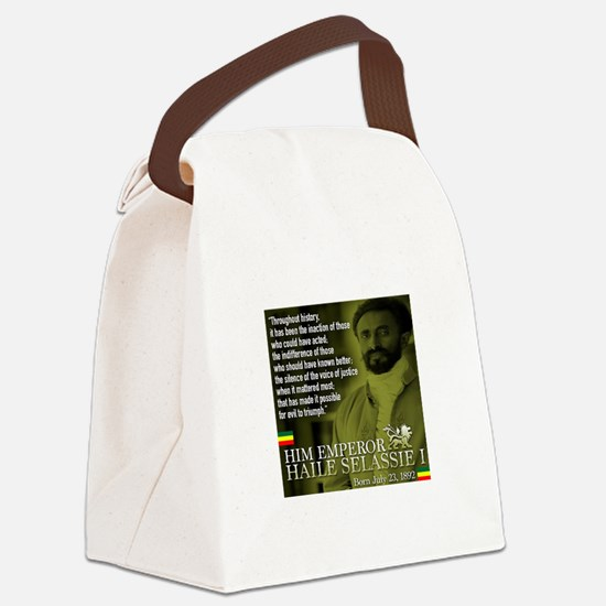 HIM Emperor Haile Selassie I Canvas Lunch Bag