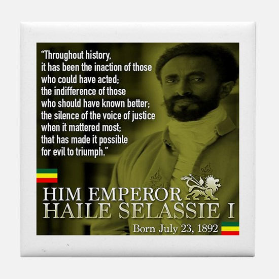 HIM Emperor Haile Selassie I Tile Coaster