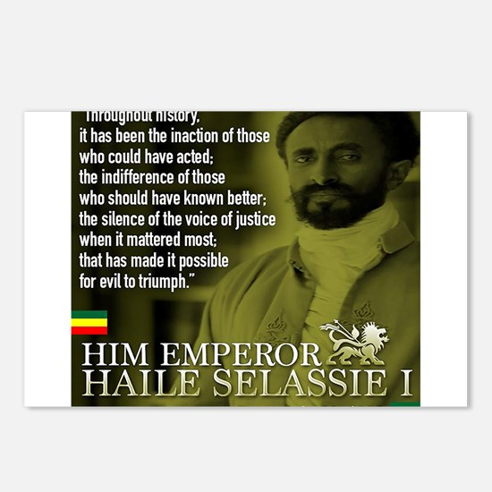 HIM Emperor Haile Selassi Postcards (Package of 8)