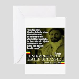 Lion of judah greeting cards cafepress him emperor haile selassie i greeting card m4hsunfo