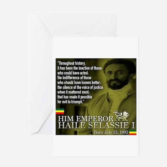 HIM Emperor Haile Selassie I Greeting Card
