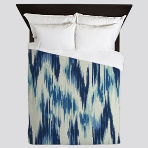 Ikat Chevron Queen Duvet