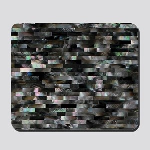 Black Mother of Pearl Mousepad