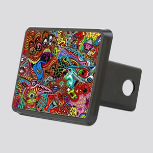Abstract Painting Rectangular Hitch Cover