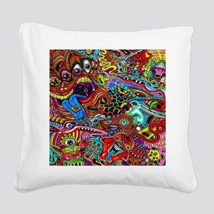 Abstract Painting Square Canvas Pillow