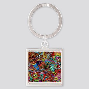 Abstract Painting Keychains