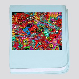 Abstract Painting baby blanket