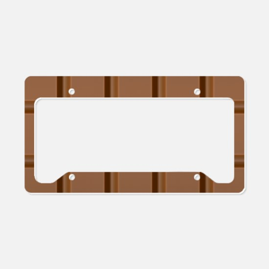 Chocolate Tiles License Plate Holder