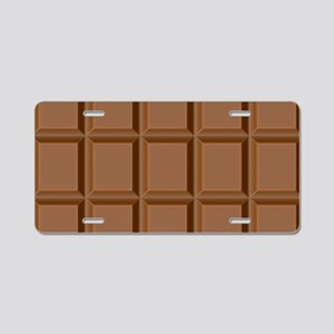 Chocolate Tiles Aluminum License Plate