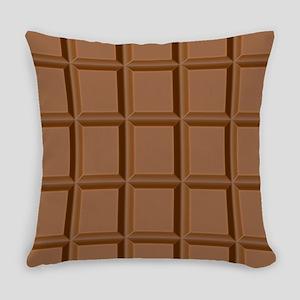 Chocolate Tiles Everyday Pillow