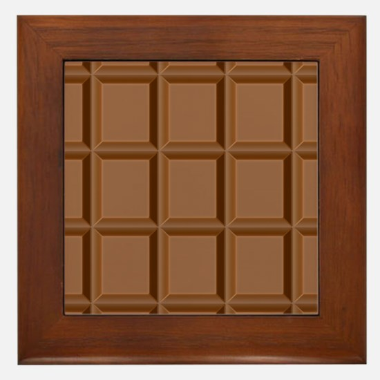 Chocolate Tiles Framed Tile