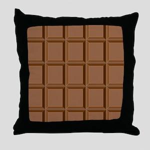 Chocolate Tiles Throw Pillow