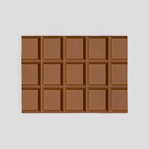 Chocolate Tiles 5'x7'Area Rug