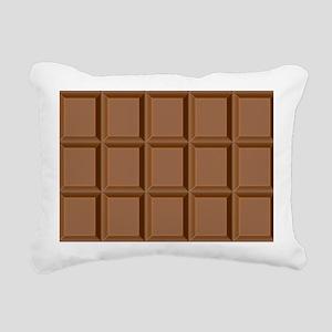 Chocolate Tiles Rectangular Canvas Pillow