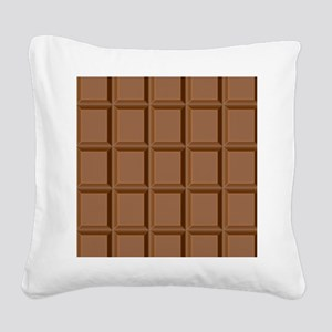 Chocolate Tiles Square Canvas Pillow