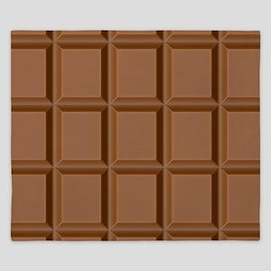 Chocolate Tiles King Duvet