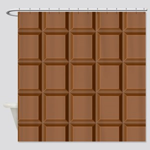 Chocolate Tiles Shower Curtain