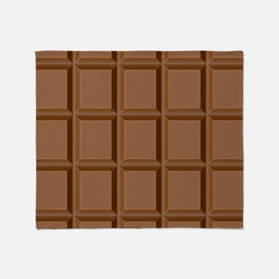 Chocolate Tiles Throw Blanket
